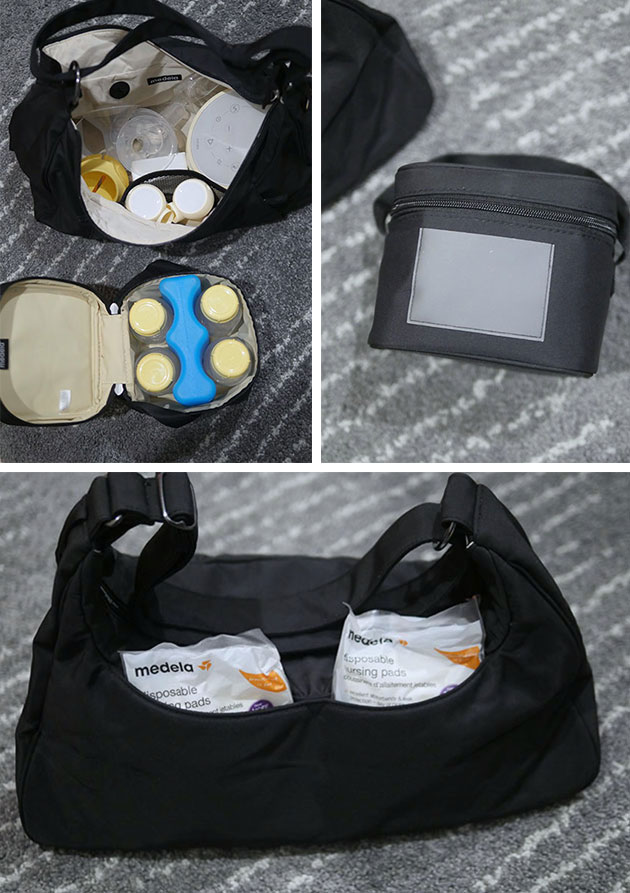 The bags that come with the Sonata pump and all the pump and items shown inside the bag.