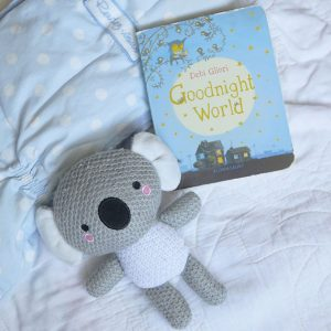 koala stuffed animal with good night world book
