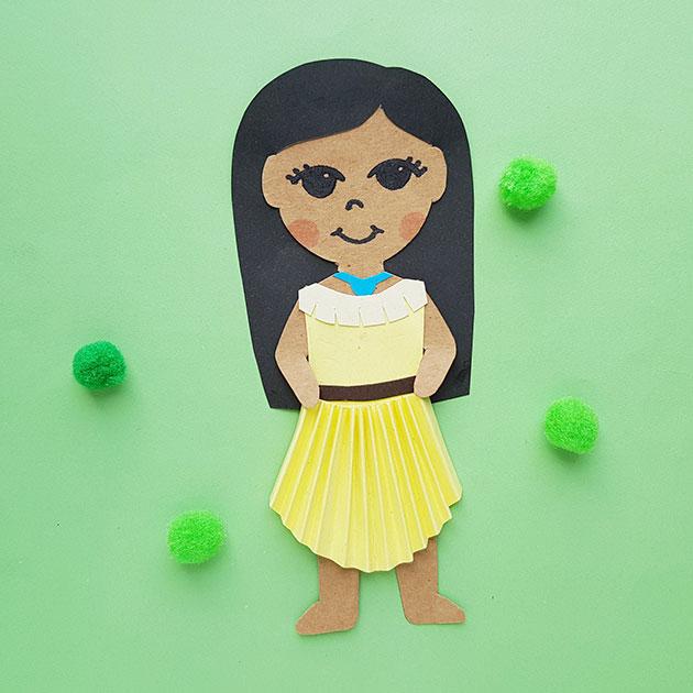 Pocahontas Paper Craft