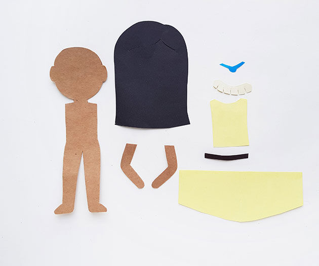 paper cutouts of the pocahontas paper craft doll