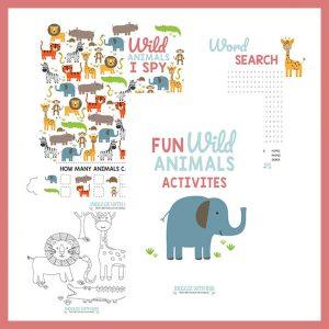 Fun Safari Animal Activities (Set 2)