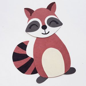 Completed Raccoon paper craft